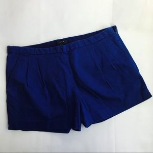 J Crew pleated cotton pique Shorts Blue size 8